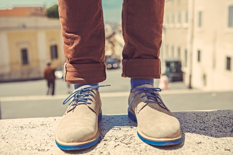 close-up of man's dress shoes