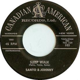 The original 45 of Santo & Johnny's