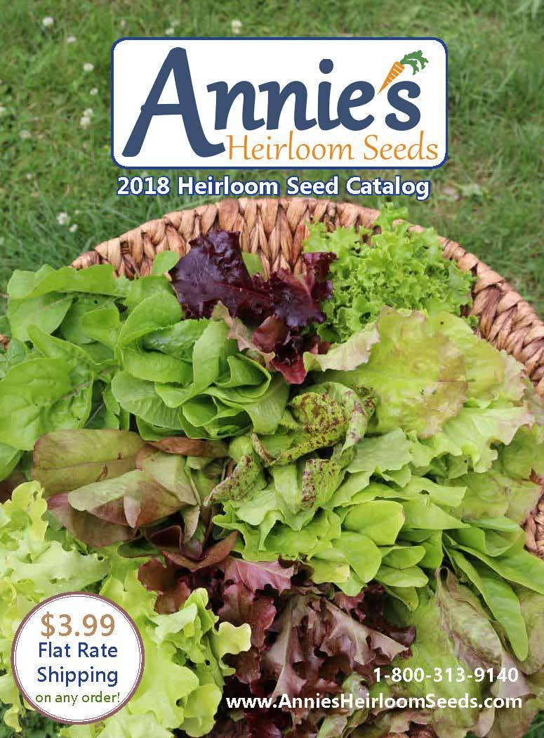The 2018 Annie's Heirloom Seeds catalog