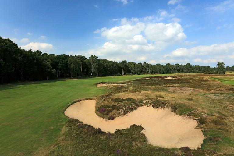 General view of Woodhall Spa's Hotchkin course, a heathland golf course.