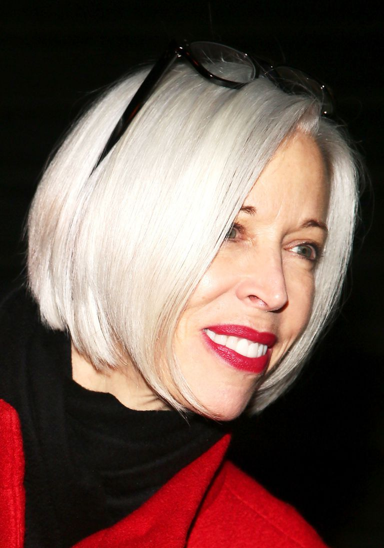 Linda Fargo with a sleek bob