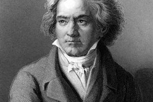 Circa 1805: German composer and pianist Ludwig van Beethoven (1770 - 1827). Original Artwork: Engraving after painting by Kloeber