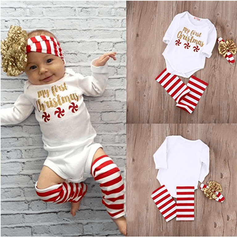 Weixinbuy Newborn Baby Girl My First Christmas Pattern Bodysuit Romper  Jumpsuit Outfit. Amazon.com - 20 Adorable Baby's First Christmas Outfits