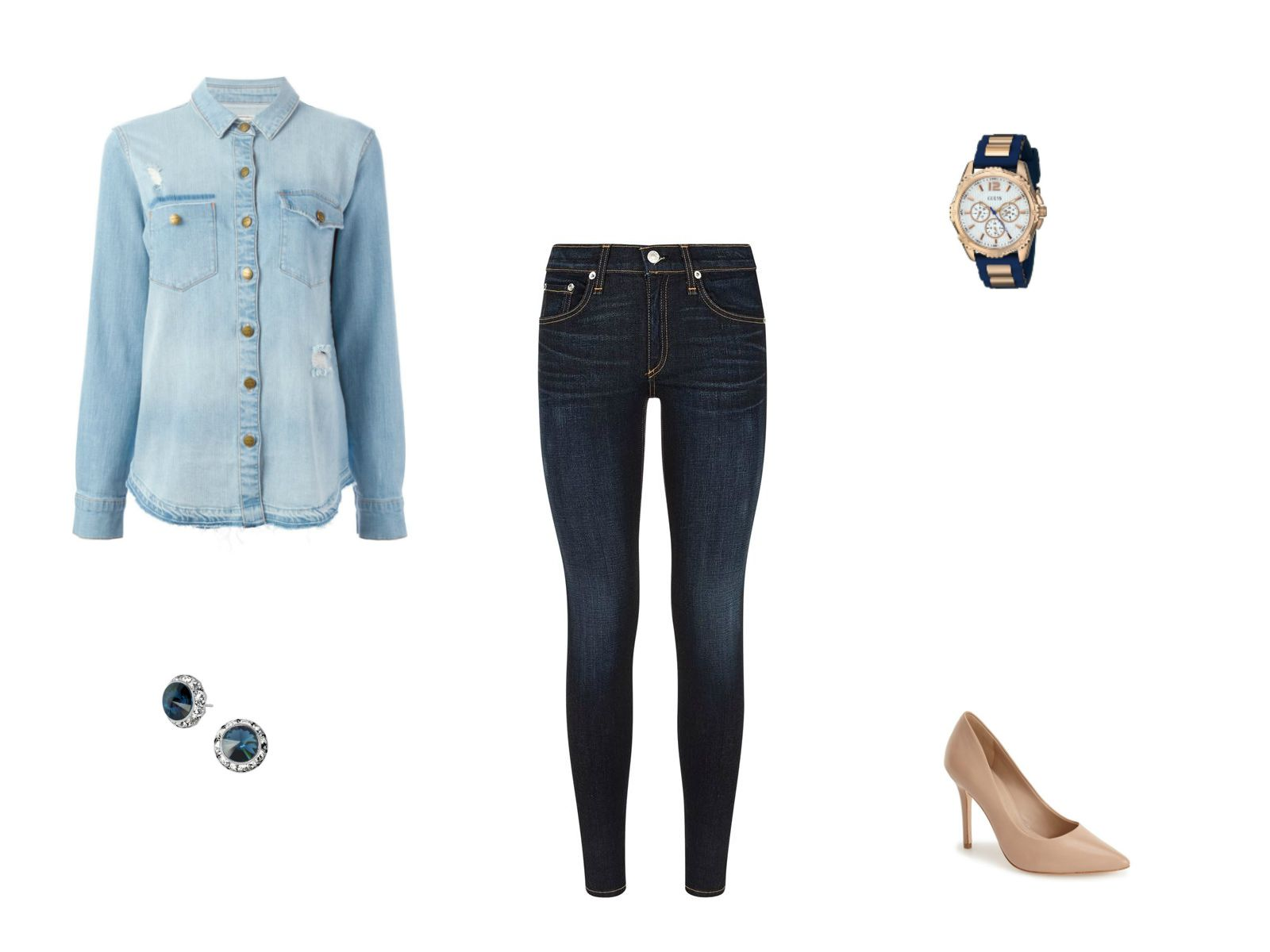 The Denim Shirt - How To Wear It 12 Different Ways 9109e242862