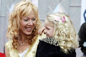 Lynn-Holly Johnson and daughter at premiere of 'Ice Princess'