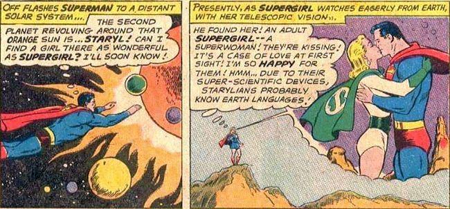 Comic panel of Action Comics #289 (1962)