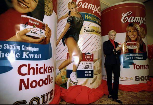 Figure Skating Champion Nicole Bobek Endorses Campbell Soup In 1998