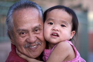 Filipino grandfather and granddaughter, Filipino grandparent and grandchild