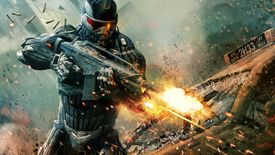 Crysis soldier shooting a gun
