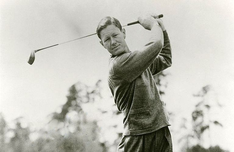 Golfer Byron Nelson, pictured in a publicity still from 1944
