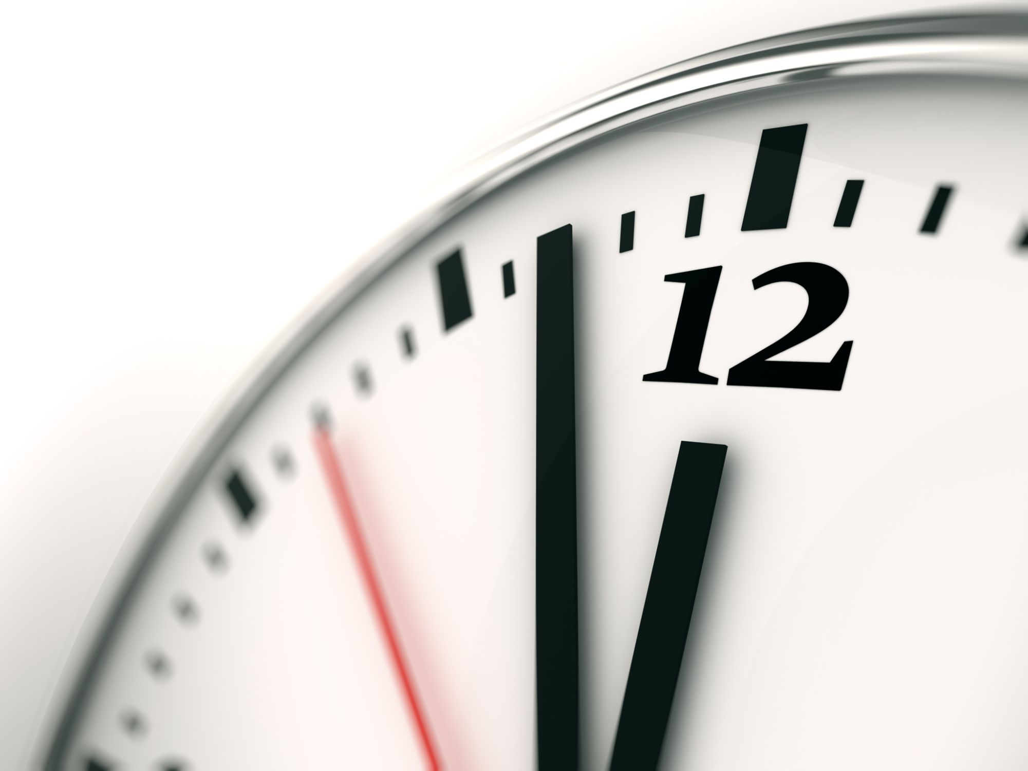 Image of a clock ticking down to 12