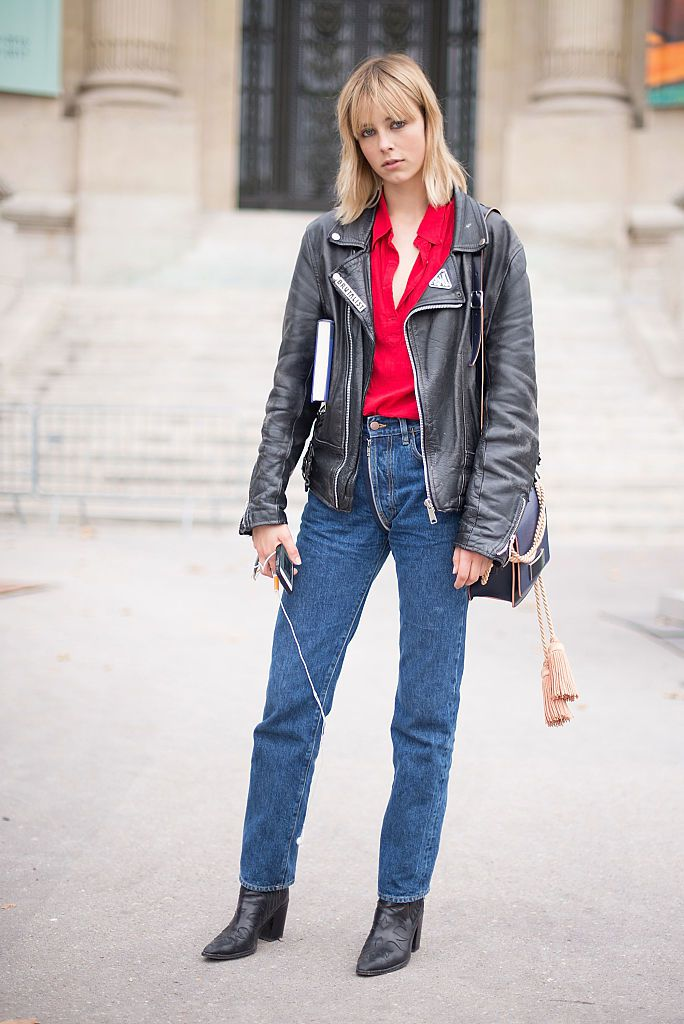 28 Easy Chic Ways To Wear Jeans And A Leather Jacket