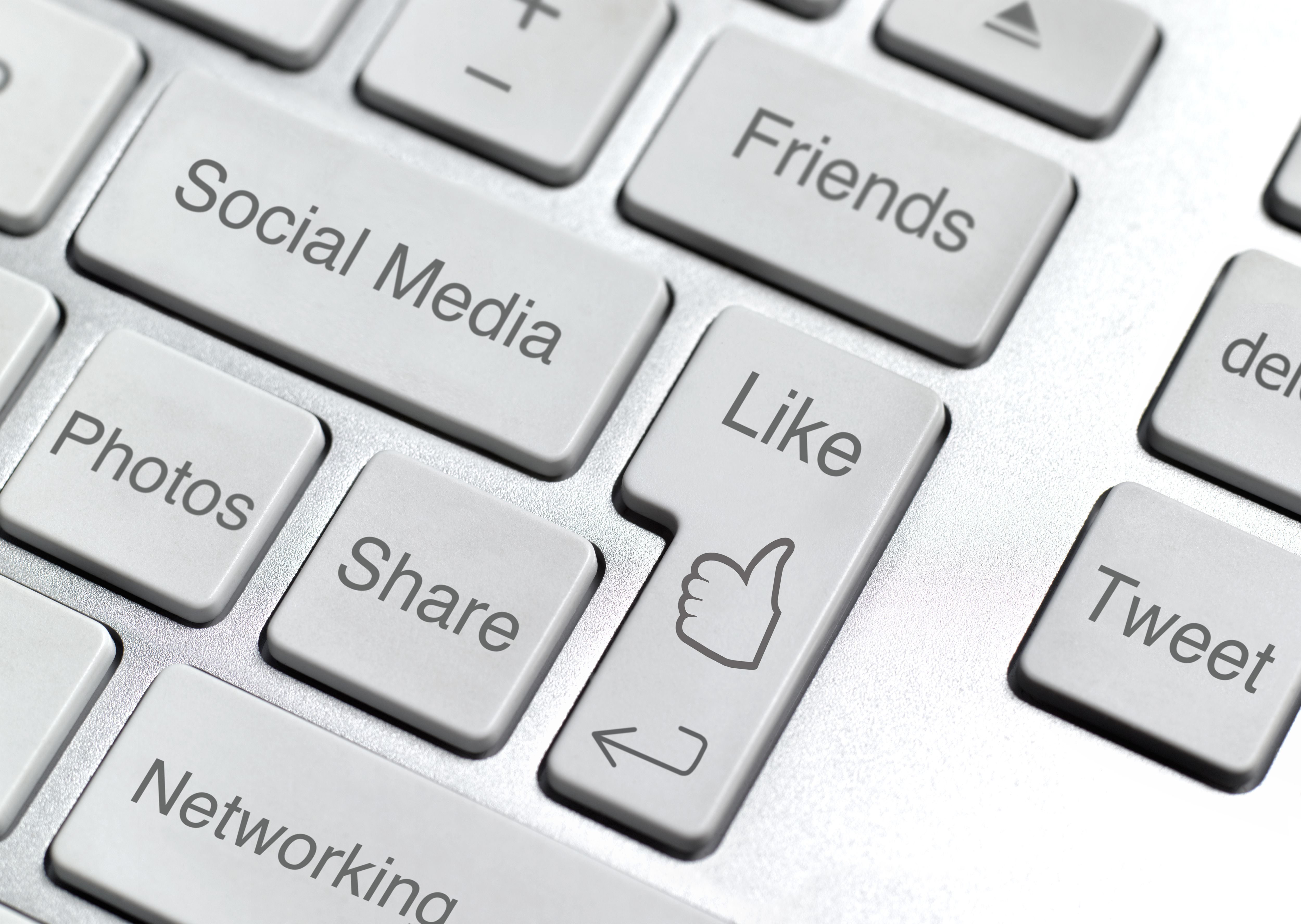 Keyboard with Symbols Used in Social Media Sweepstakes