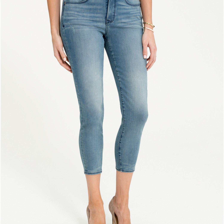 Spanx 5-Pocket Skinny Crop Jeans in Hunter