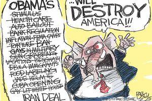 Obama Destroy America Cartoon