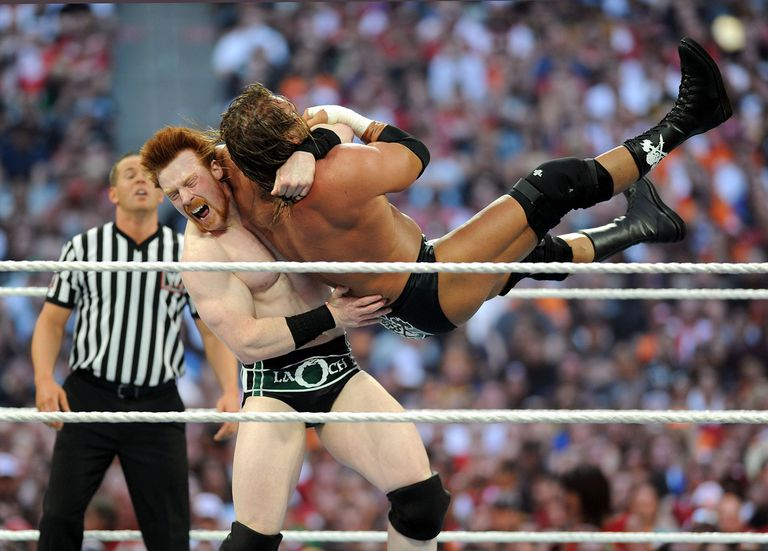 Triple H and Sheamus battle it out at WrestleMania XXVI