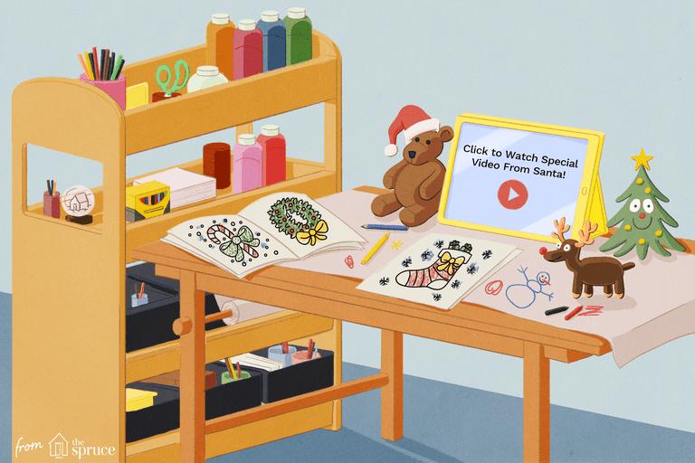 Illustration of holiday knick knacks