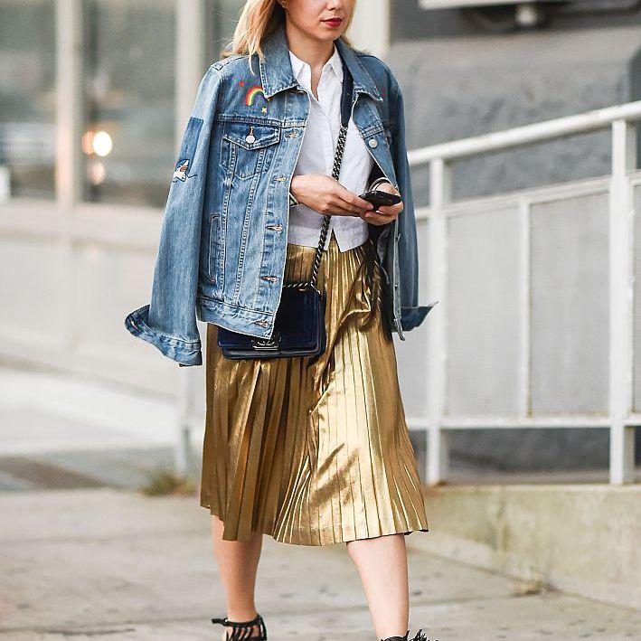Street style denim jaket