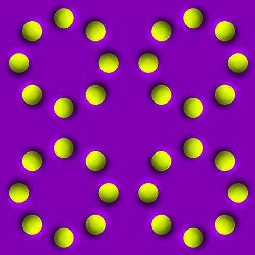 moving circles illusory art