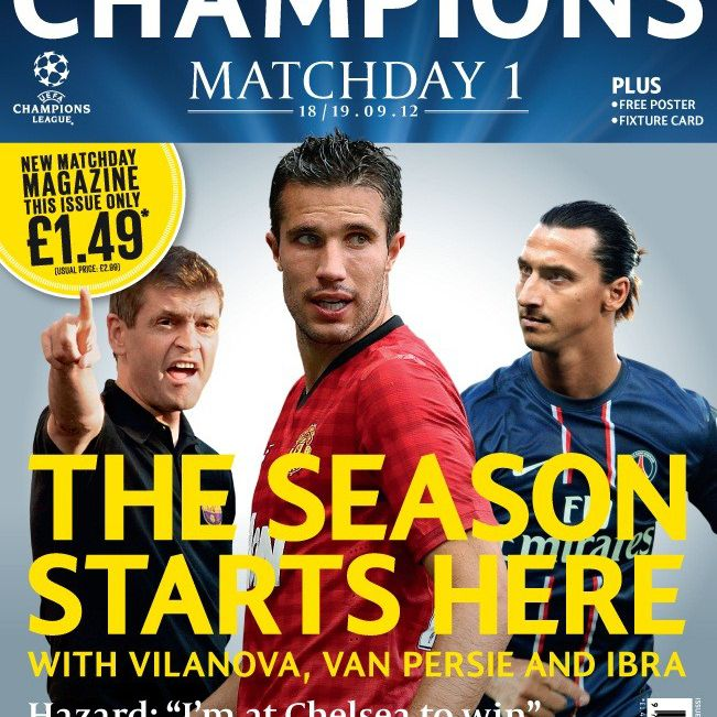 Cover art for Champions Magazine