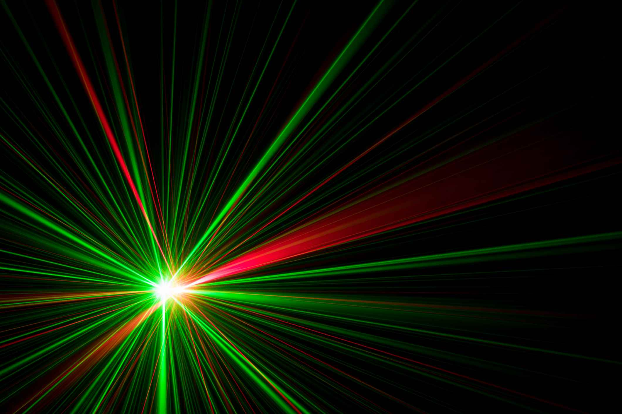Image of Red and Green Lasers
