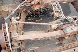 rusted and damaged frame
