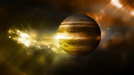 The planet Jupiter.