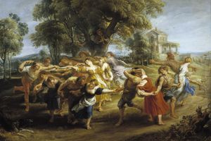 Peasant Dance, 1630-1635. Found in the collection of the Museo del Prado, Madrid.