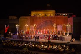 Opera Performance of A Masked Ball by Verdi, Pafos Aphrodite Festival, Verdi Opera Un Ballo in Maschera, by The Mariinsky Theatre of St. Petersburg, Pafos castle, Cyprus