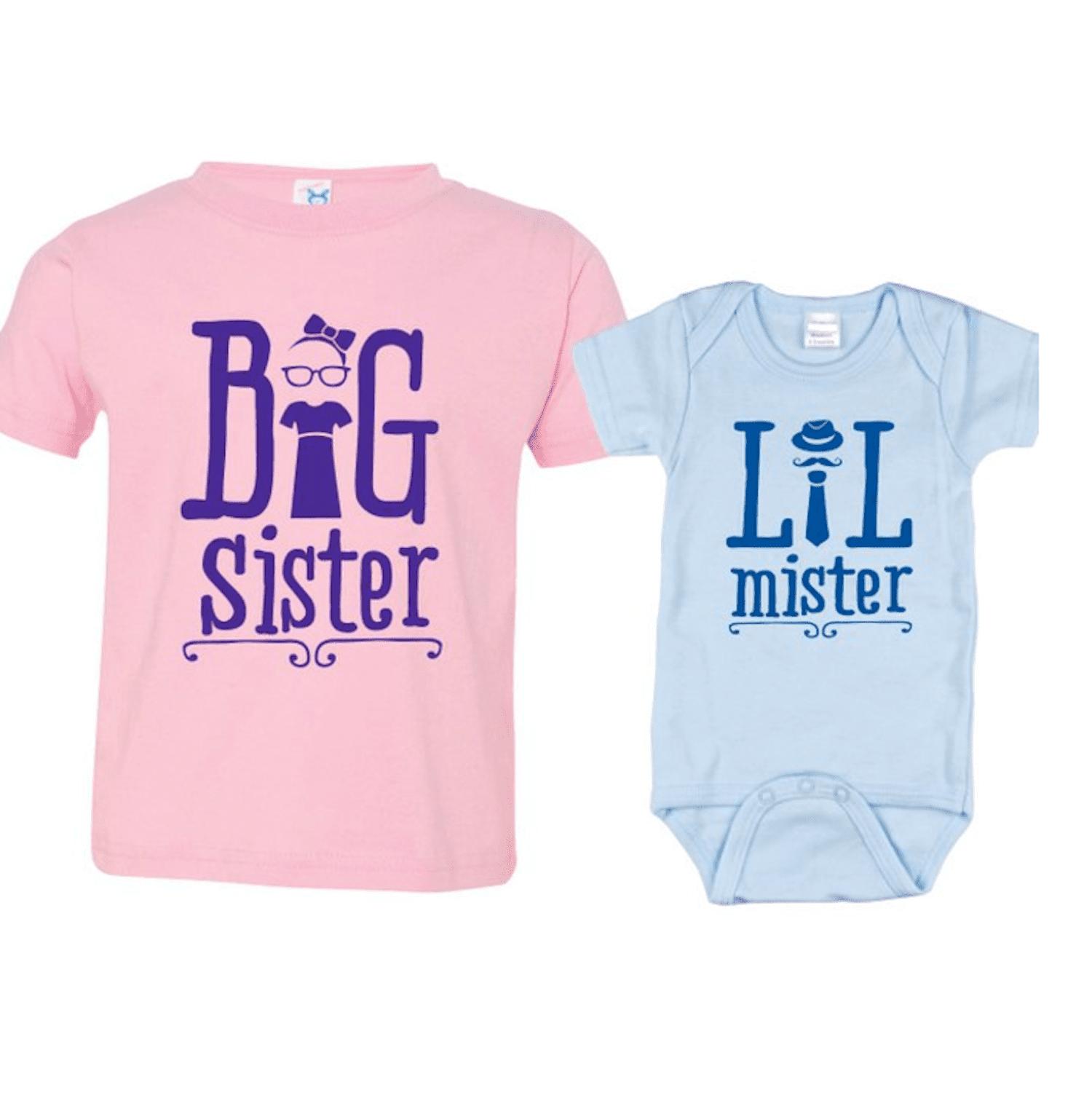 Hippowarehouse Personalised I Love My Big Sister Name HERE Baby Vest Bodysuit Long Sleeve Boys Girls