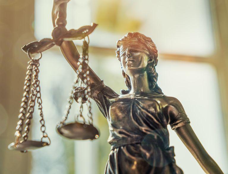Close-Up Of Statue (law balance)