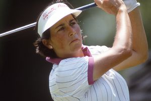 Golfer Amy Alcott, pictured in 1988 during an LPGA Tour tournament