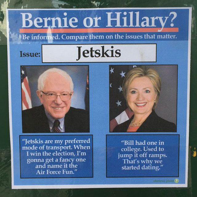 Bernie vs HIllary Meme Jetskis
