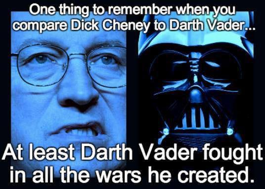 Cheney vs Darth Vader