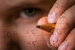 Person Making Mathematical Calculations