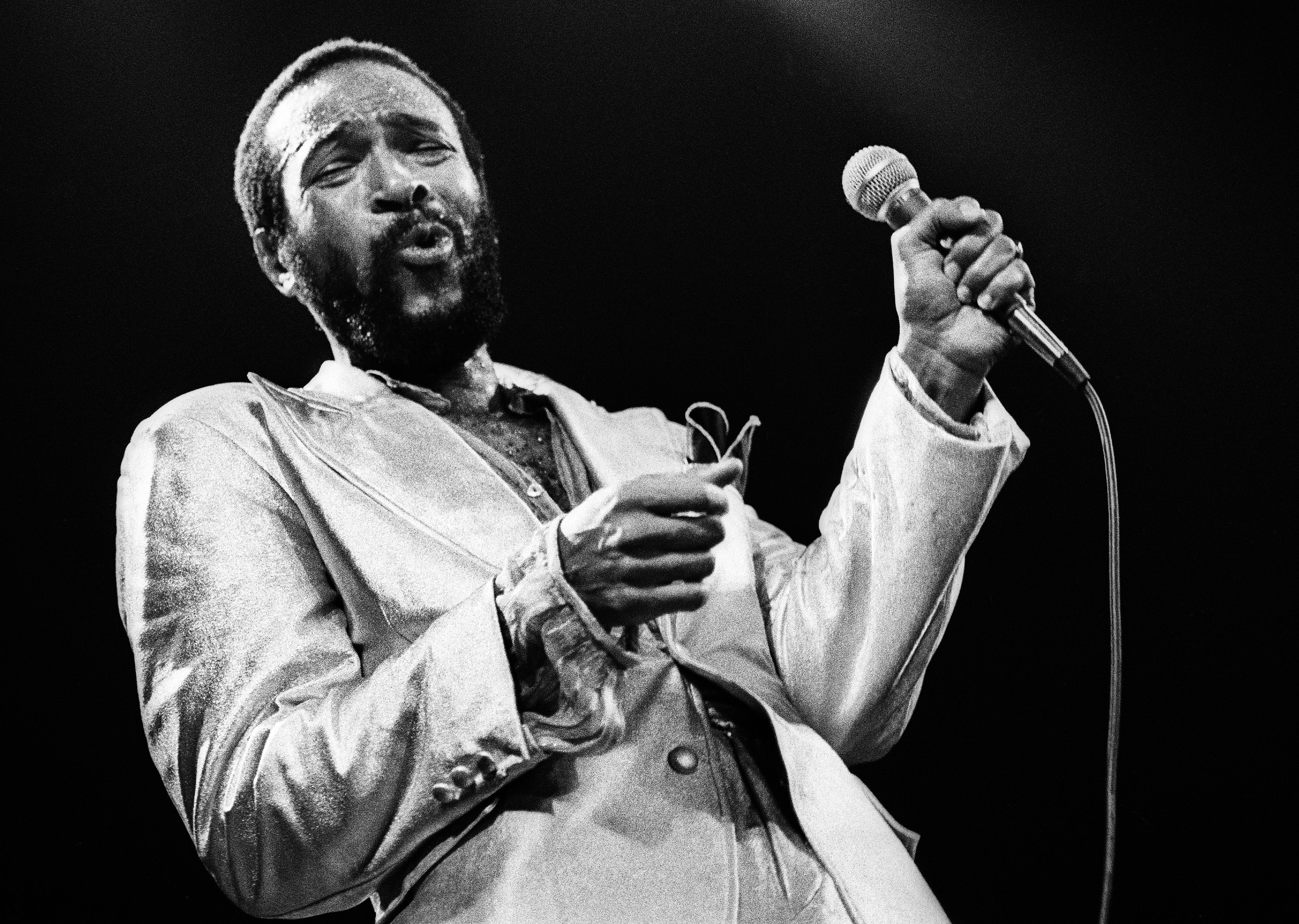 Marvin Gaye Performs In Rotterdam