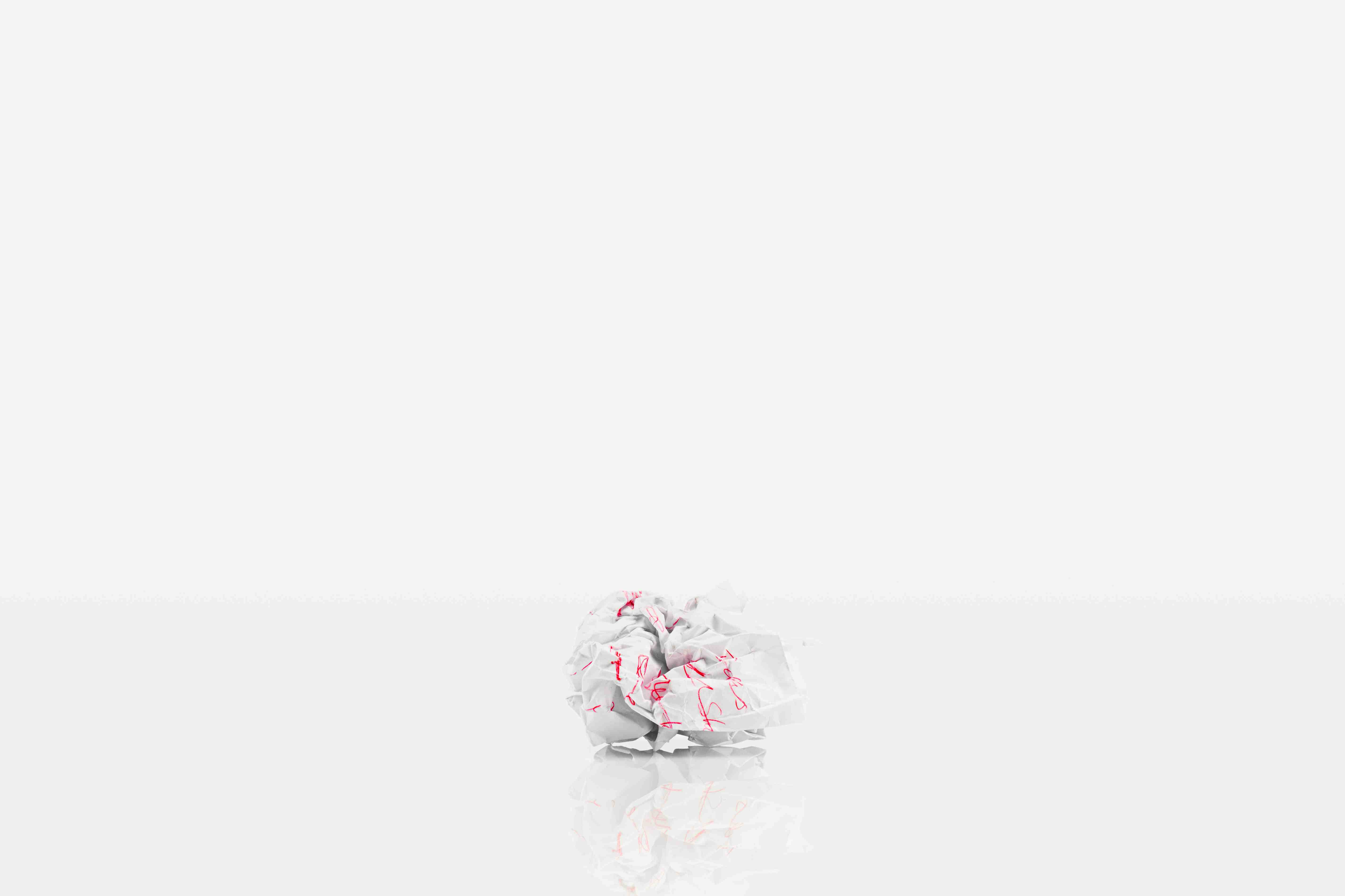 Image of a Crumpled Piece of Paper
