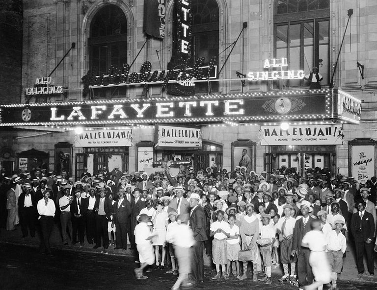 Audiences Outside Lafayette Theater for 'Hallelujah!'