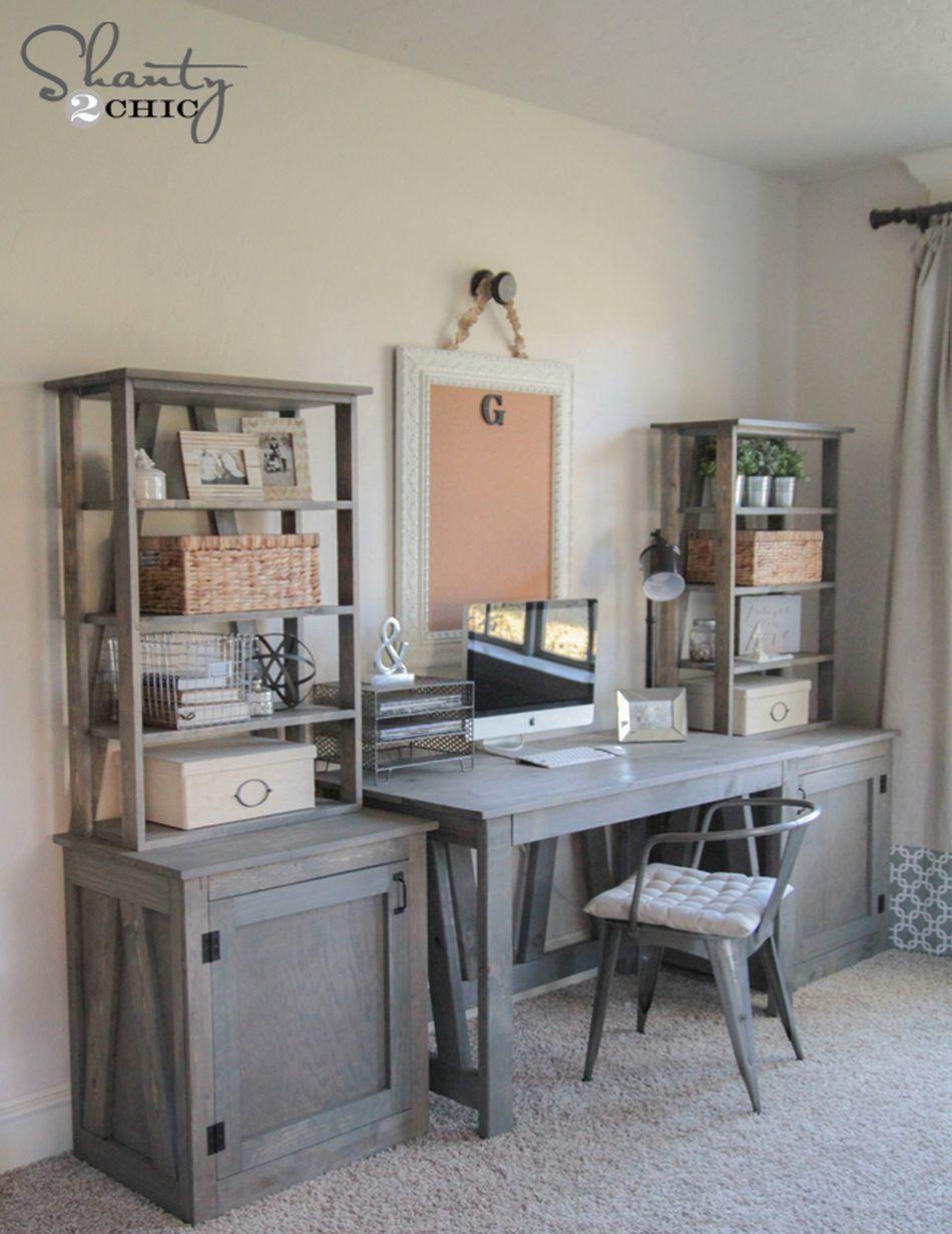 A DIY desk by a window