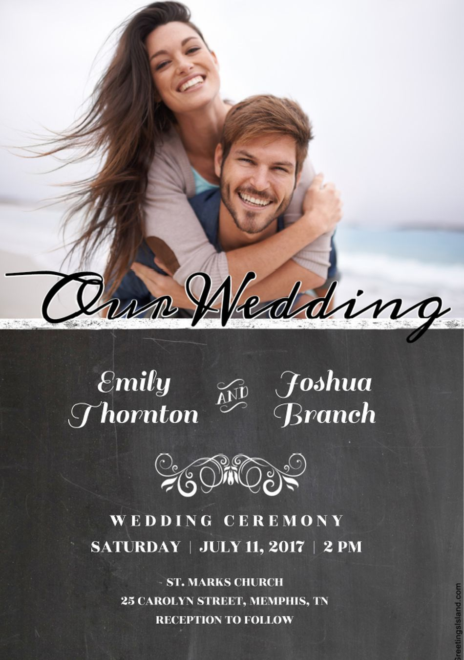 Free Wedding Invitation Templates You Can Customize - Wedding invitation with photo templates
