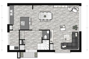 A great room designed in Floorplanner