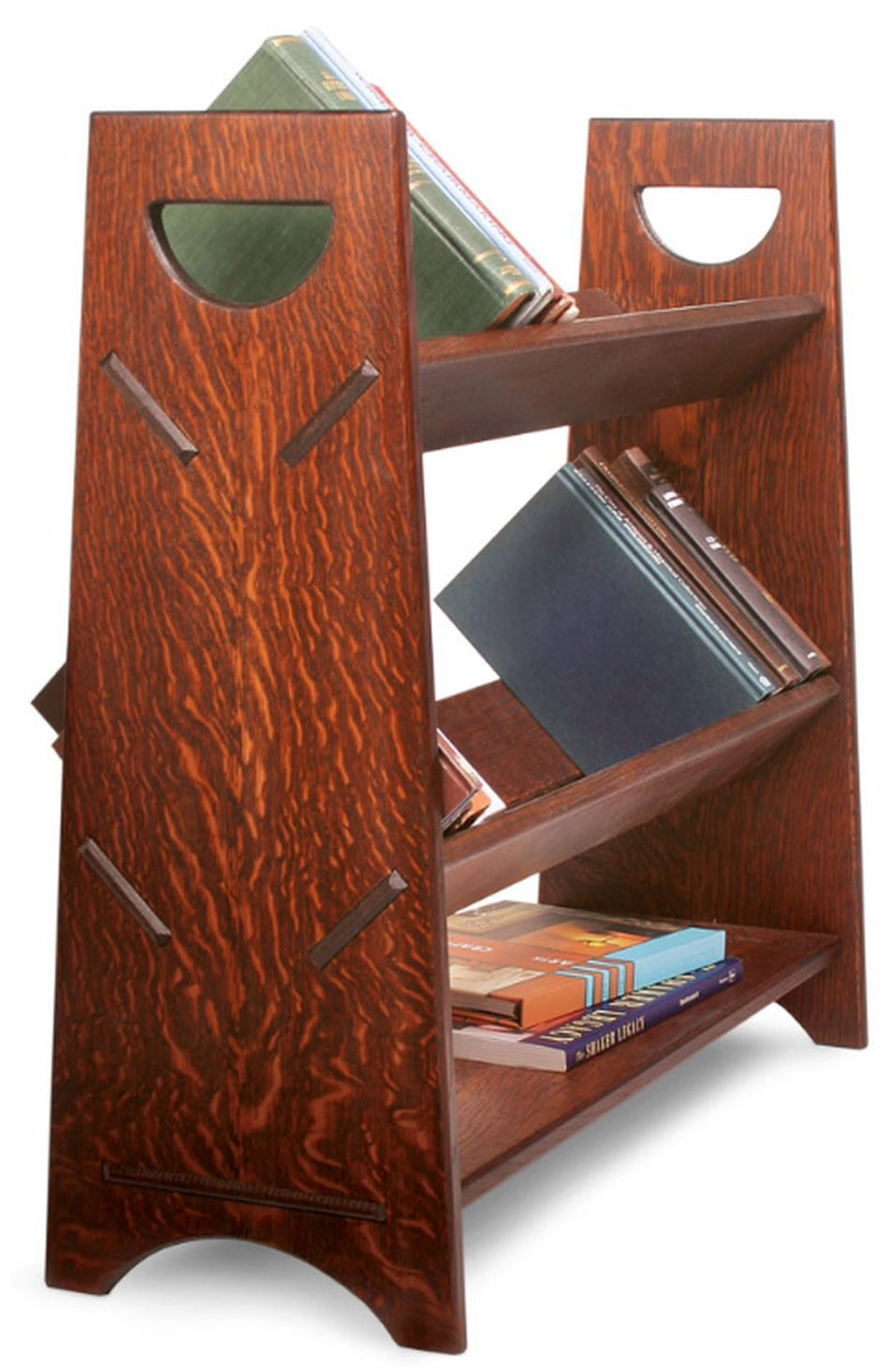 Portable Book Rack Plan From Start Woodworking