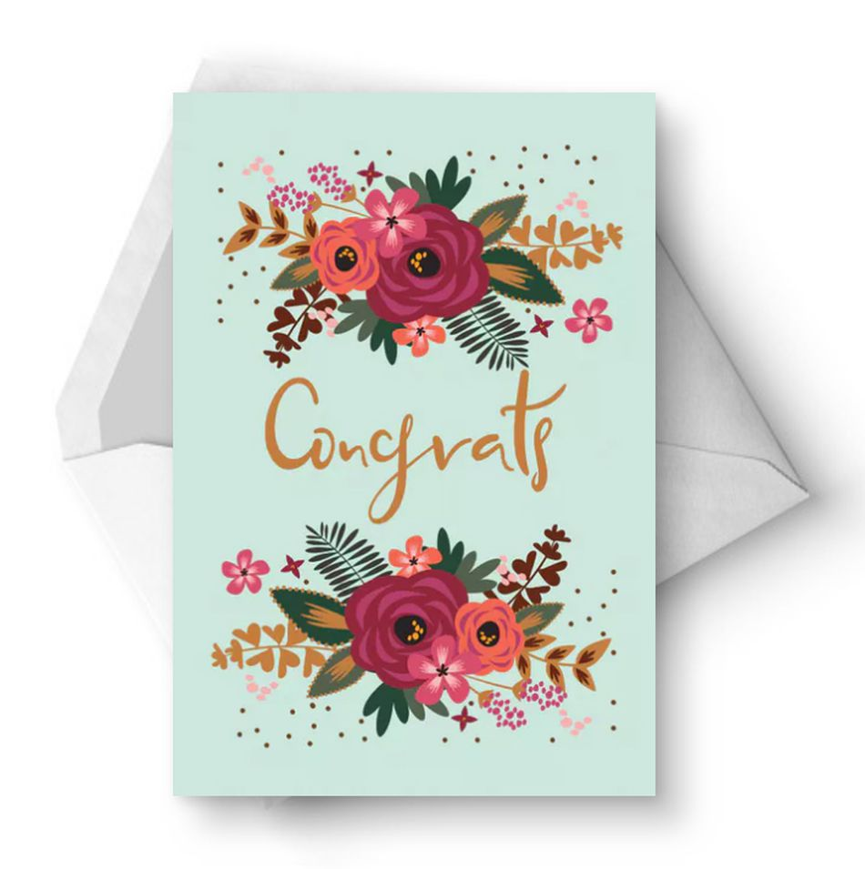 10 Free, Printable Wedding Cards That Say Congrats