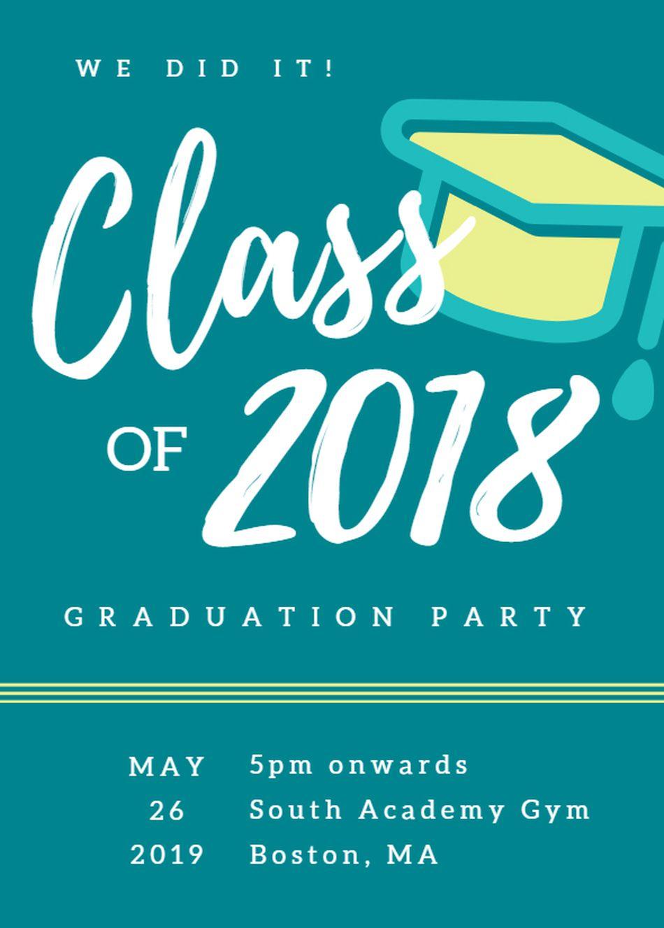 19 Free, Printable Graduation Invitations Templates