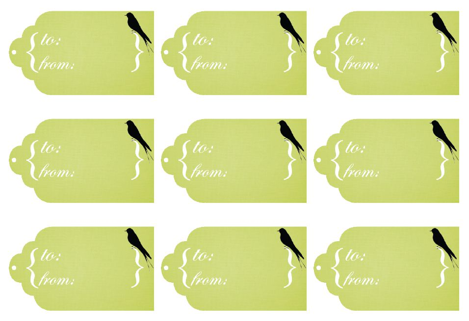 11 sets of free printable gift tags for anytime of year