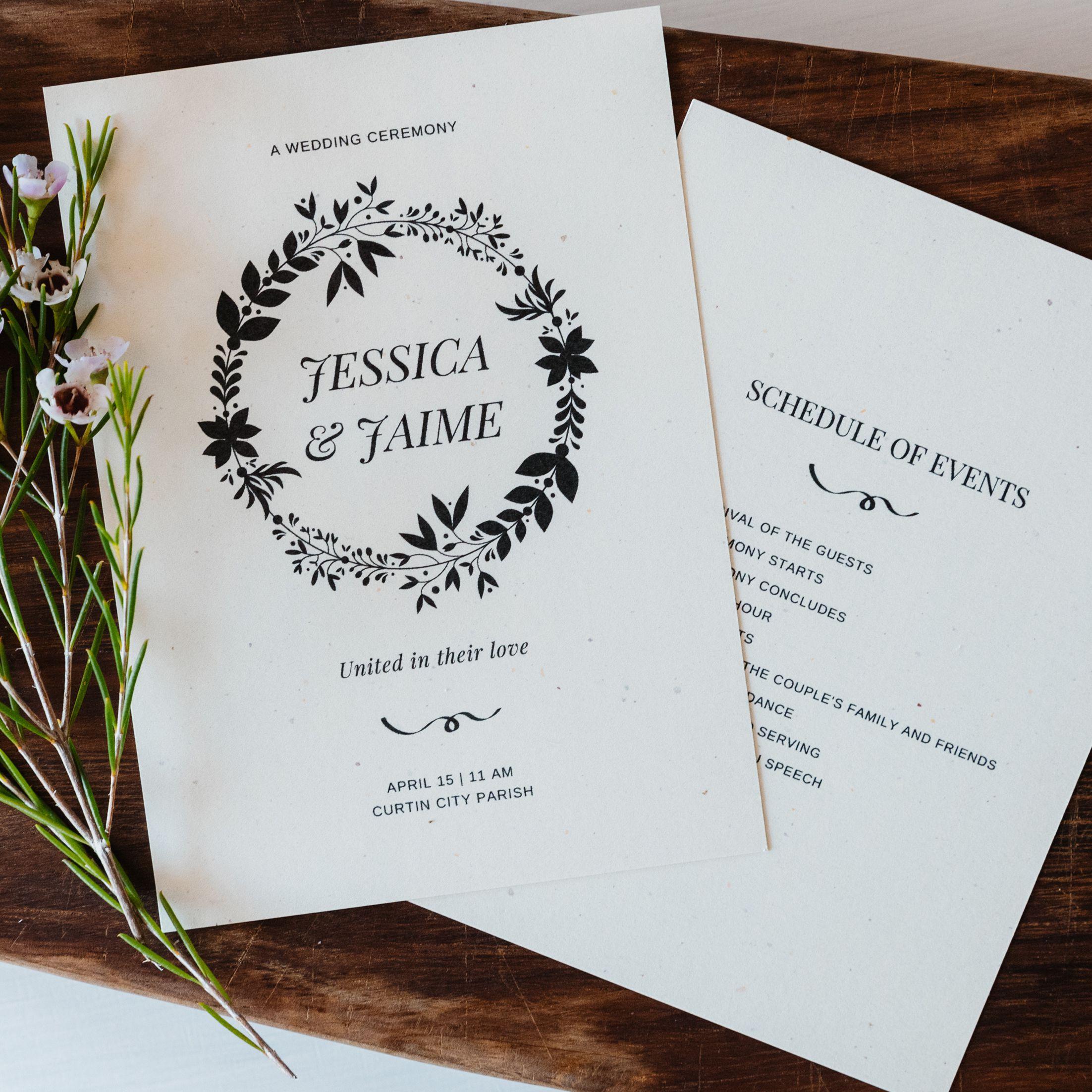 Free Wedding Program Templates You Can Customize Inside Church Program Templates Word