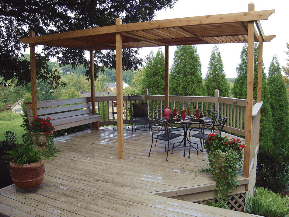Pergola Plan with Adjustable Roof Panels from HGTV - 17 Free Pergola Plans You Can DIY Today
