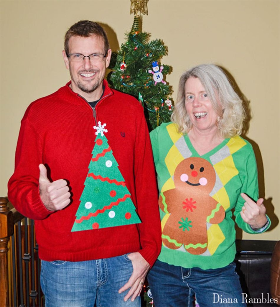 fbf0e21a 15. Quick $1 DIY Ugly Christmas Sweater from Diana Rambles