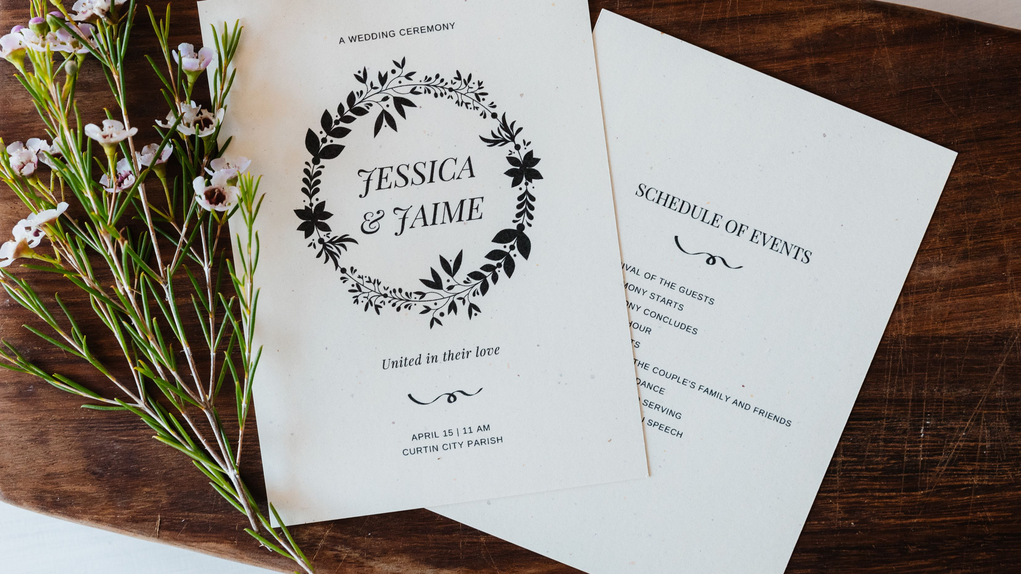 Free Wedding Program Templates You Can Customize With Regard To Free Event Program Templates Word