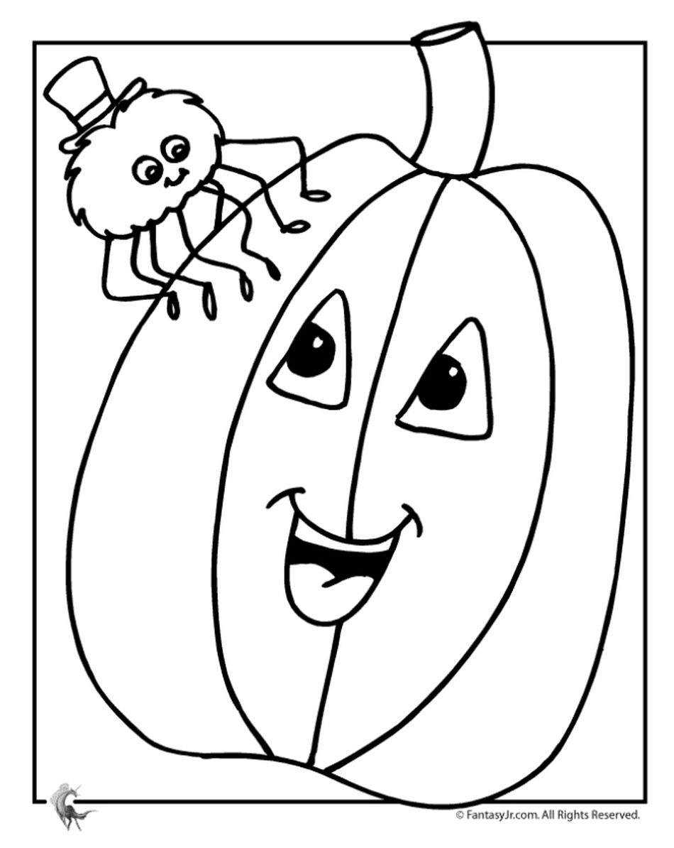 Fantasy Jrs Pumpkin Coloring Pages For Kids
